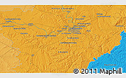 Political 3D Map of Saint-Saturnin