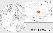 """Blank Location Map of the area around 45°35'46""""N,0°55'29""""E"""