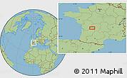 "Savanna Style Location Map of the area around 45°35'46""N,0°55'29""E"