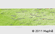"Physical Panoramic Map of the area around 45° 35' 46"" N, 0° 55' 29"" E"
