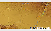 """Physical 3D Map of the area around 45°35'46""""N,100°22'30""""E"""