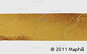 """Physical Panoramic Map of the area around 45°35'46""""N,100°22'30""""E"""