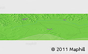 Political Panoramic Map of Qagan Nur