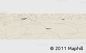 Shaded Relief Panoramic Map of Qagan Nur