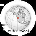 Outline Map of Tollgate, rectangular outline