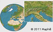 Satellite Location Map of Fossalunga