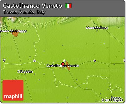 Free Physical Map of Castelfranco Veneto