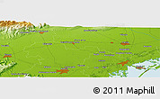 Physical Panoramic Map of Villorba