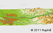 """Physical Panoramic Map of the area around 45°35'46""""N,122°19'29""""W"""