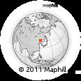 Outline Map of Gaoping, rectangular outline