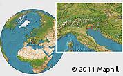 Satellite Location Map of Venice