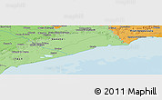 """Political Panoramic Map of the area around 45°35'46""""N,12°49'29""""E"""