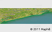 "Satellite Panoramic Map of the area around 45°35'46""N,12°49'29""E"