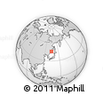 Outline Map of Primorsky Krai, rectangular outline