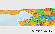 Political Panoramic Map of Buzet