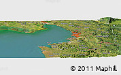 Satellite Panoramic Map of Lucija