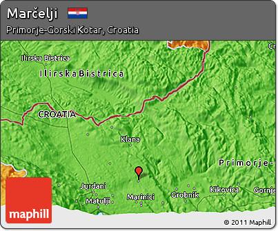 Political 3D Map of Marčelji