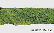 Satellite Panoramic Map of Malo Selo