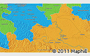 Political 3D Map of Potok