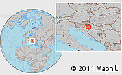 Gray Location Map of Lučko