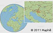 Savanna Style Location Map of Lučko