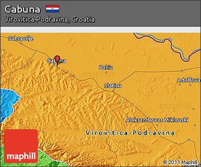 Political 3D Map of Cabuna
