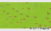 Physical 3D Map of Bogojevo