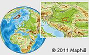 Physical Location Map of Bogojevo