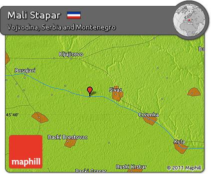 Free Physical Map of Mali Stapar