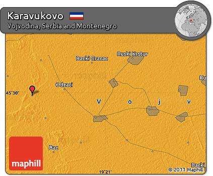 Political Map of Karavukovo