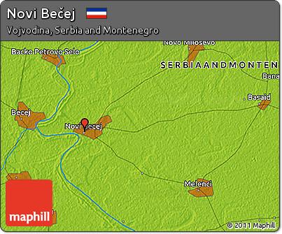Free Physical 3d Map Of Novi Becej