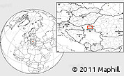 Blank Location Map of Vojvoda Stepa