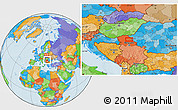 Political Location Map of Vojvoda Stepa