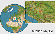 Satellite Location Map of Vojvoda Stepa