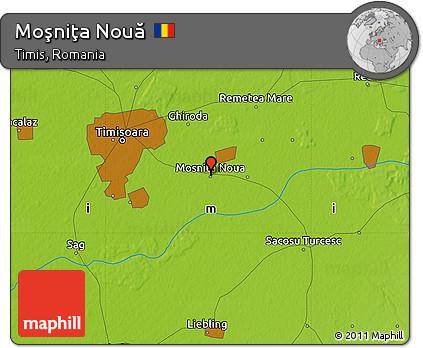 Physical Map of Moşniţa Nouă