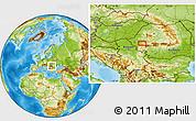 Physical Location Map of Cornişoru