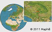 Satellite Location Map of Marga