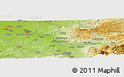 Physical Panoramic Map of Valea Mare