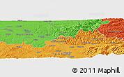 Political Panoramic Map of Marga