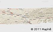 Shaded Relief Panoramic Map of Cornişoru