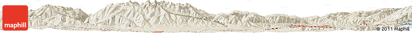 Shaded Relief Horizon Map of Botani