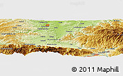 Physical Panoramic Map of Dîlja Mare