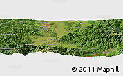 Satellite Panoramic Map of Ponor
