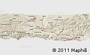 Shaded Relief Panoramic Map of Ponor