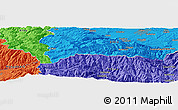 """Political Panoramic Map of the area around 45°35'46""""N,23°52'30""""E"""