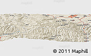 "Shaded Relief Panoramic Map of the area around 45° 35' 46"" N, 23° 52' 30"" E"