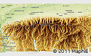 Physical 3D Map of Turnu Roşu