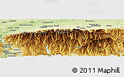 "Physical Panoramic Map of the area around 45° 35' 46"" N, 24° 43' 30"" E"