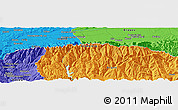"""Political Panoramic Map of the area around 45°35'46""""N,24°43'30""""E"""