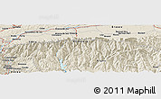"""Shaded Relief Panoramic Map of the area around 45°35'46""""N,24°43'30""""E"""